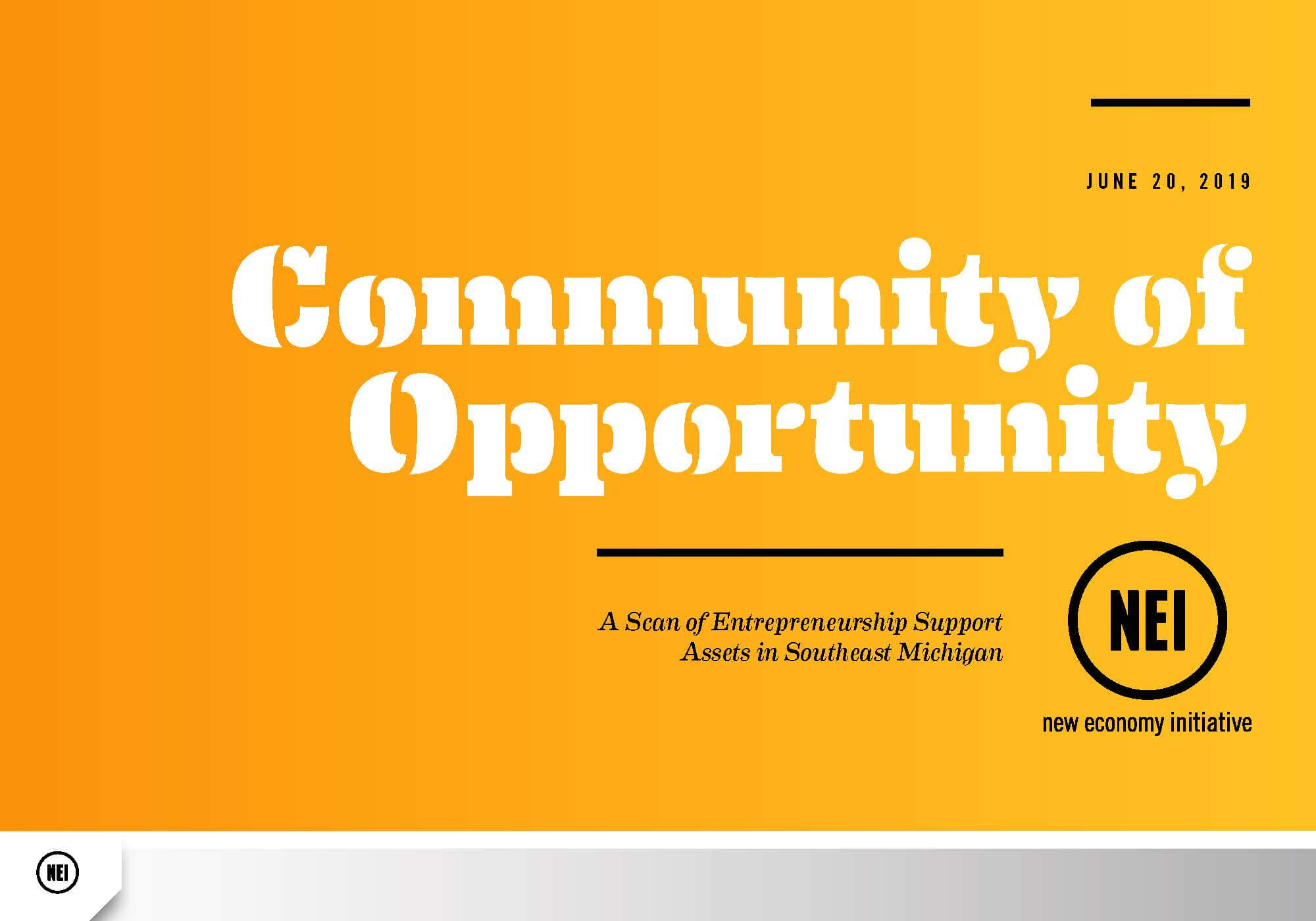 community of opportunity