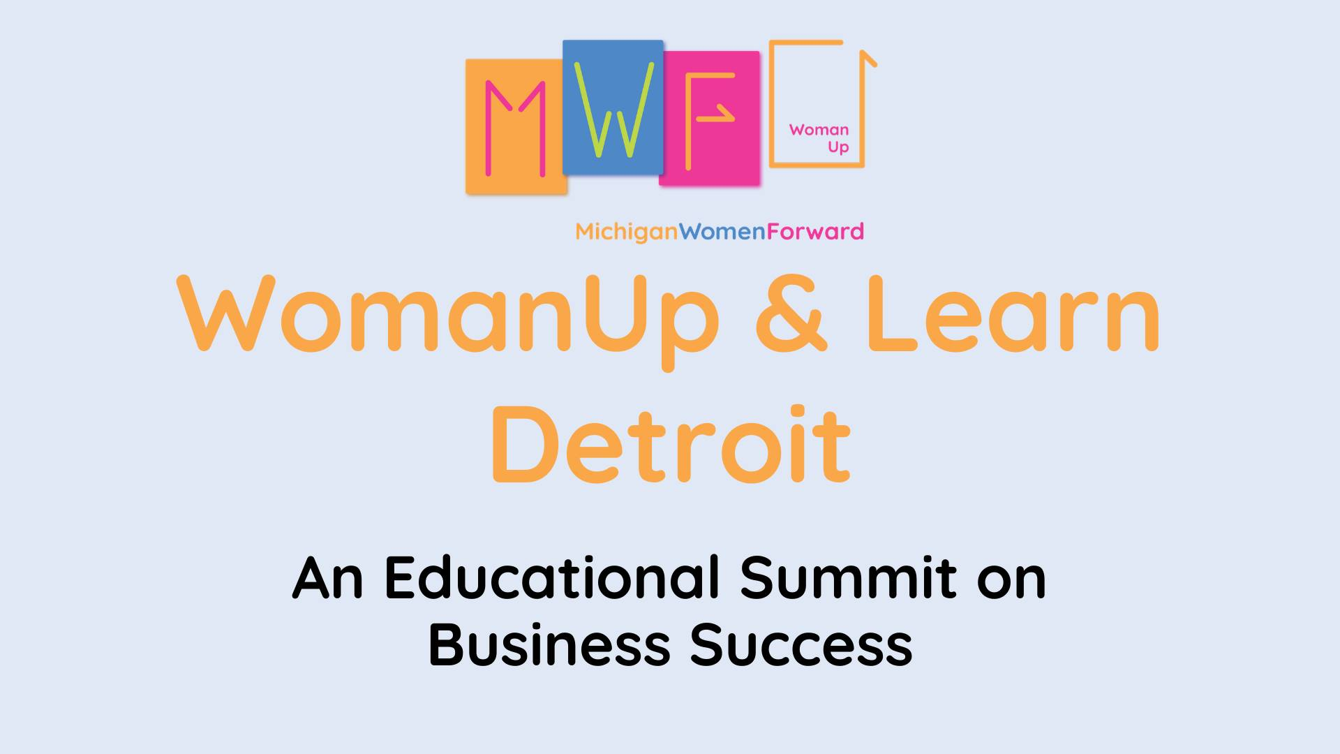 womanup & learn detroit